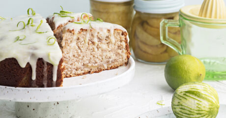 Scrumptious feijoa and coconut cake