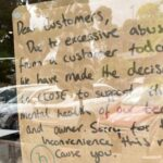 Cafe forced to close early due to abusive patron